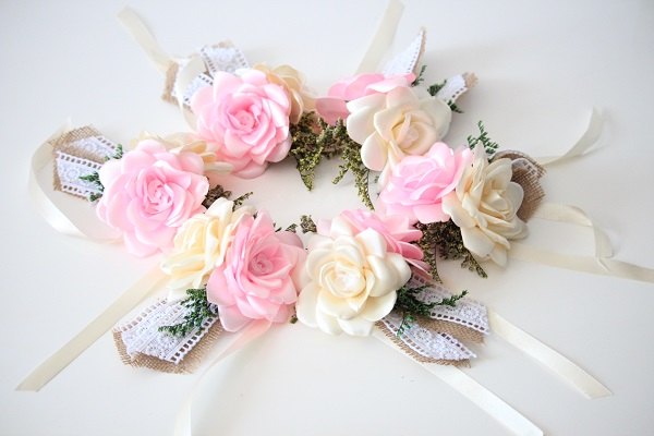 d5443ebdbd Pulsera Damas de Honor - Cintas y 2 flores - Amore Colombia